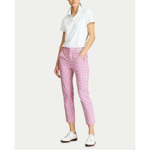 ralph lauren Gingham Pink Streach Golf Capri Pants